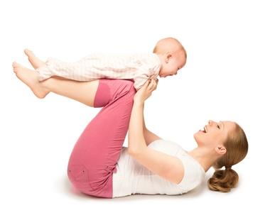 Training für Mütter mit Baby